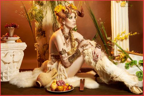Mythologie Antique Bijoux Cornes Flûte de Pan Faune Bacchante Ménade Faunesse Female Faun Jewels Mythology Jewelry Panpipes Bacchus Dionysos Fantasia