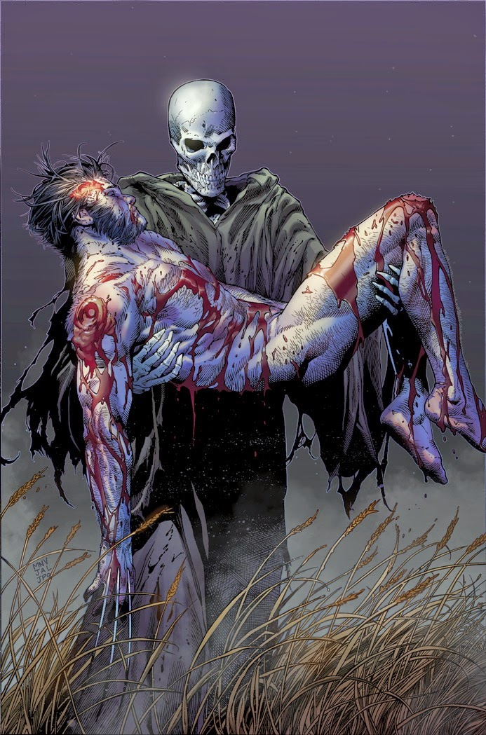 Marvels Death of Wolverine 4 standard cover by Steve McNiven
