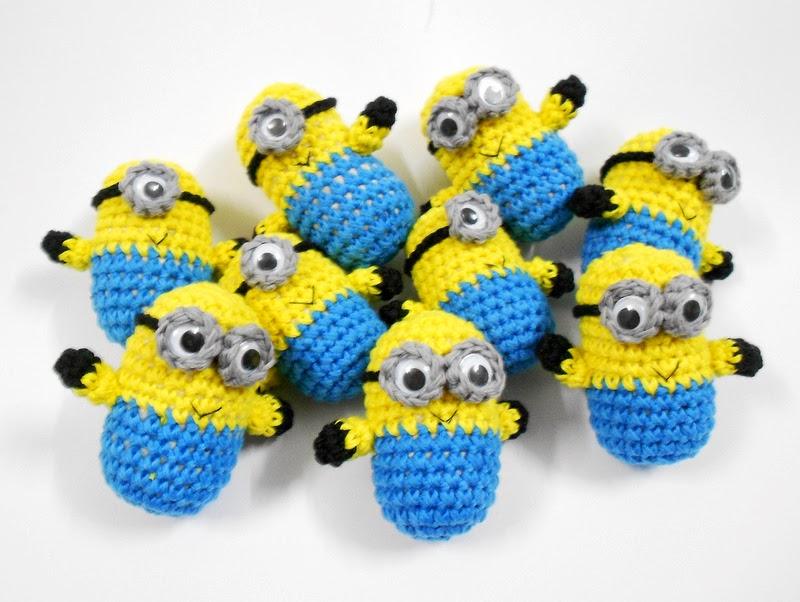 Amigurumi Crochet Minion : Firefly Crochet: Crochet Amigurumi minions