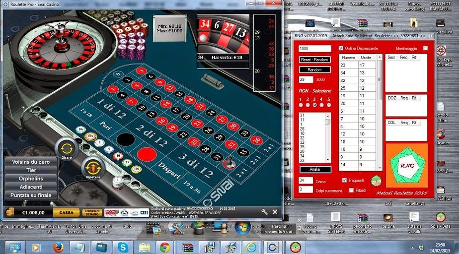 Claudio metodi roulette online