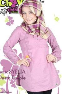 Clover Clothing Blus Syelia - Dusty Purple (Toko Jilbab dan Busana Muslimah Terbaru)
