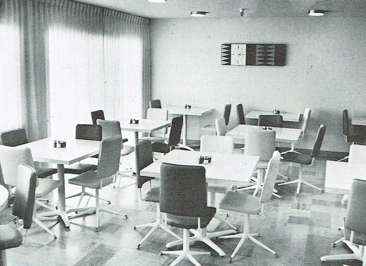 1960s dining room for convalescent facility White Angel Inn located in Phoenix Arizona