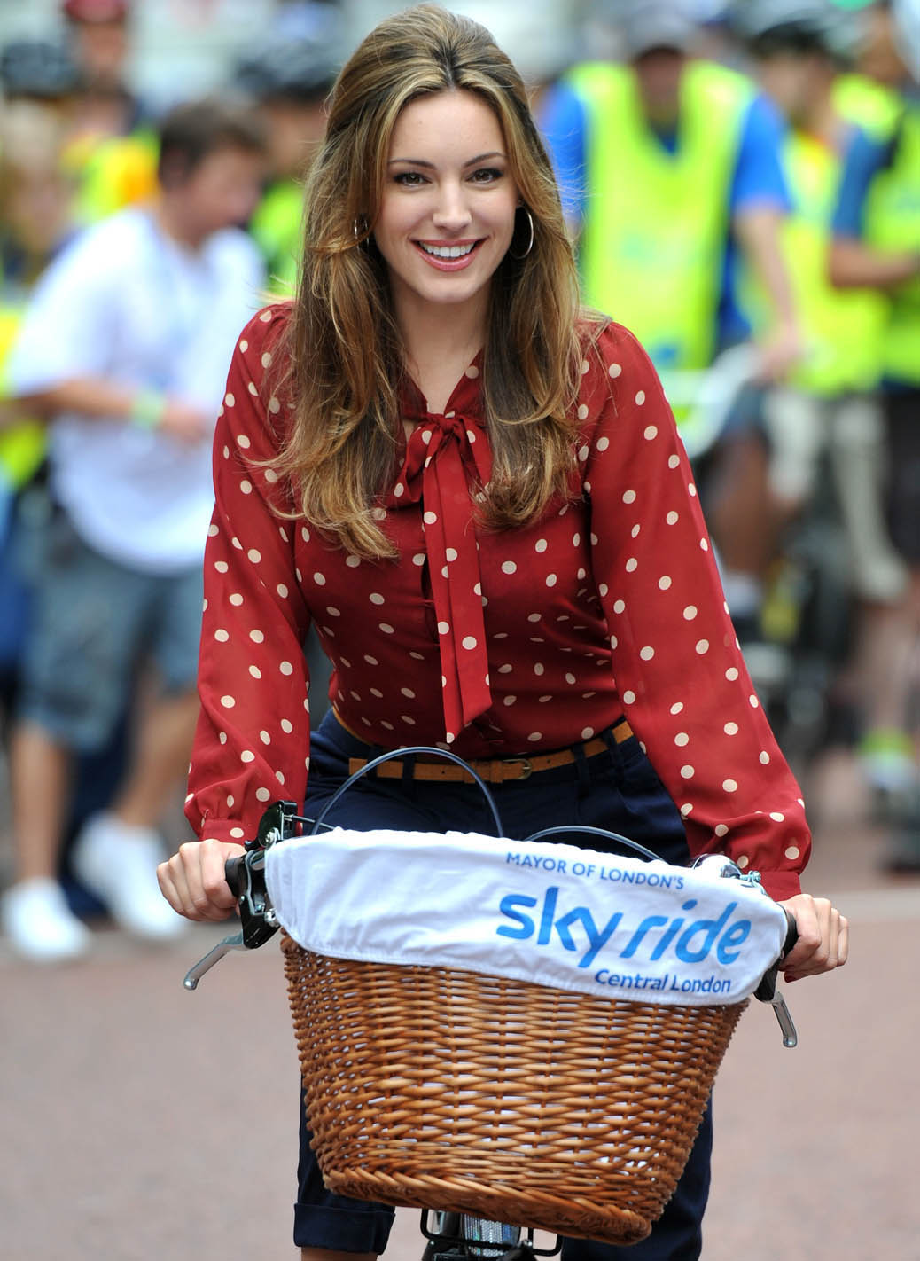 Kelly Brook Looking Hot With Bicycle