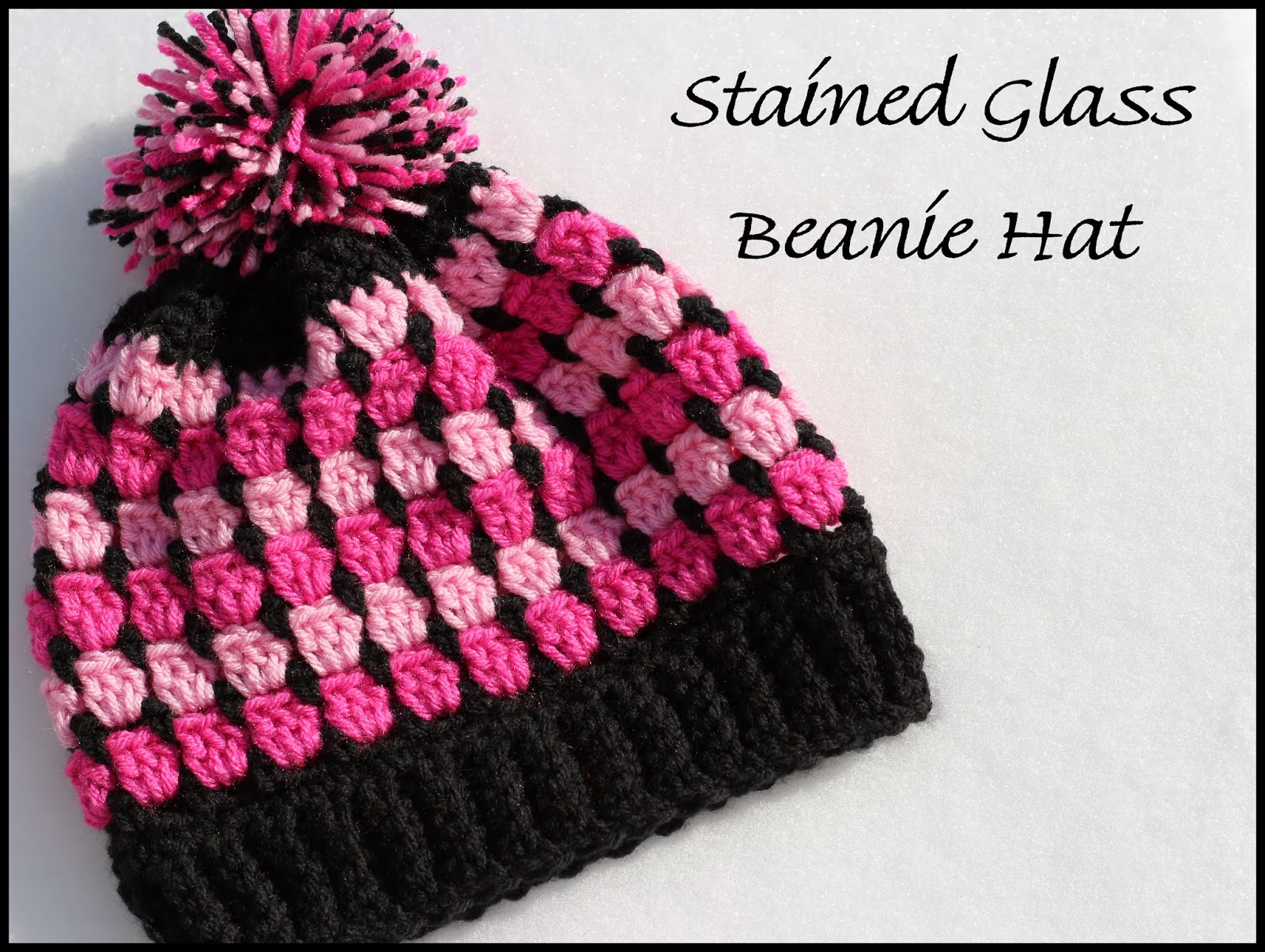 Crochet Supernova: Stained Glass Beanie Hat ~FREE PATTERN~