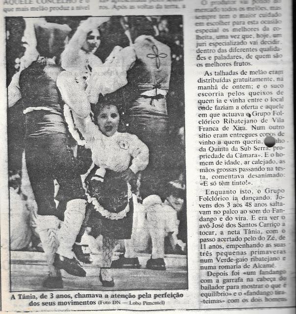 DN Vila Franca de Xira Grupo Folclorico Ribatejano Feira do Melao 1986