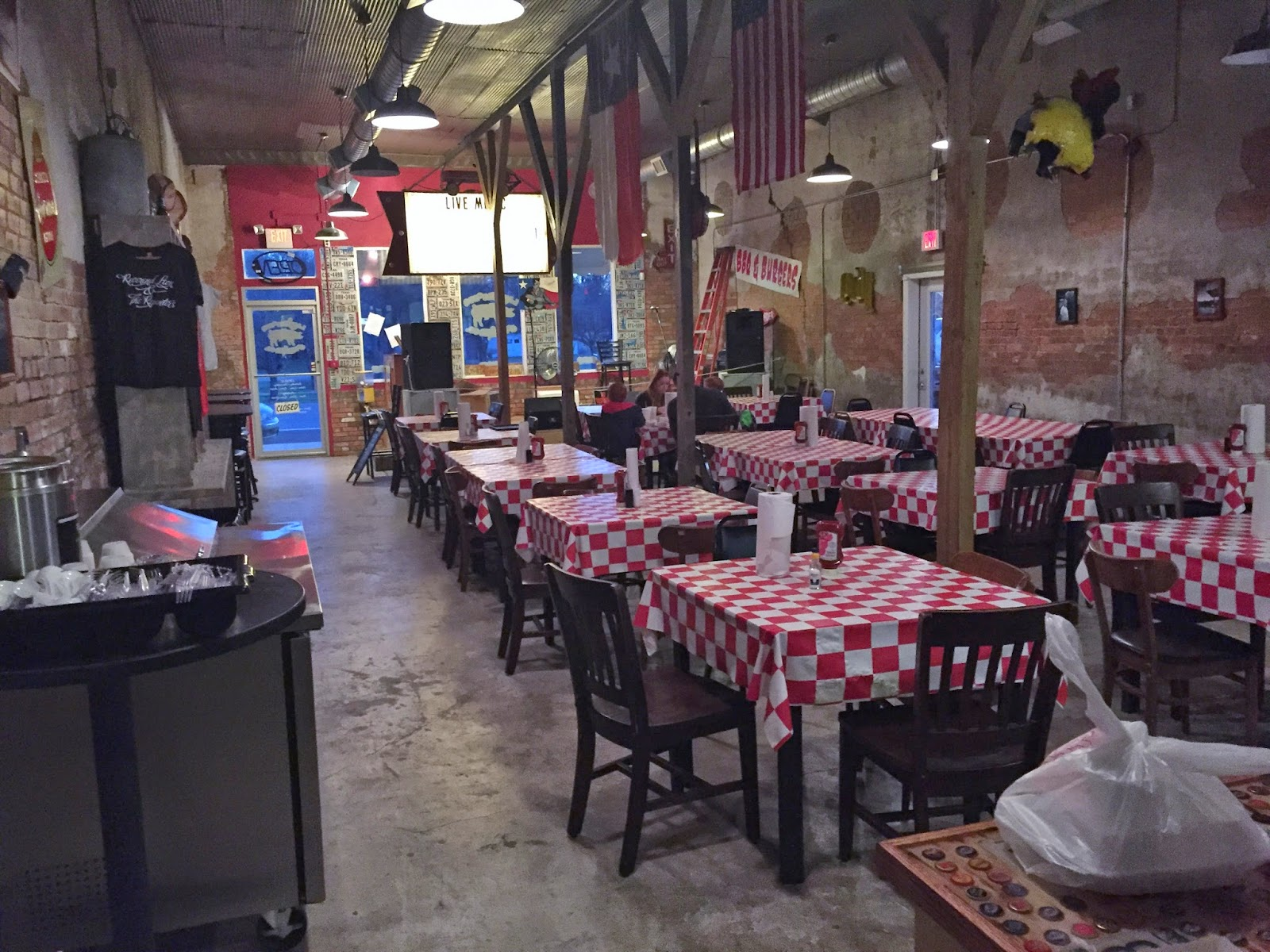 Lander's BBQ is cavernous, yet inviting.