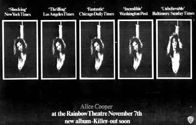 The Rainbow, London, England 7th November 1971