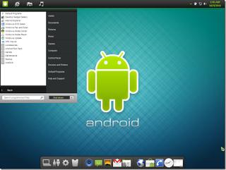 tampilan tema android skin pack pada komputer/ laptop
