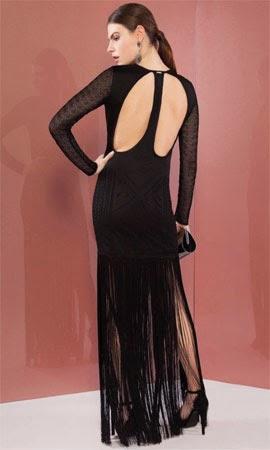 Bo.Bô coleção verão 2015 vestido com mangas franjas e recortes nas costas