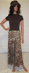 Animal Print Maxi in Brown and Gold