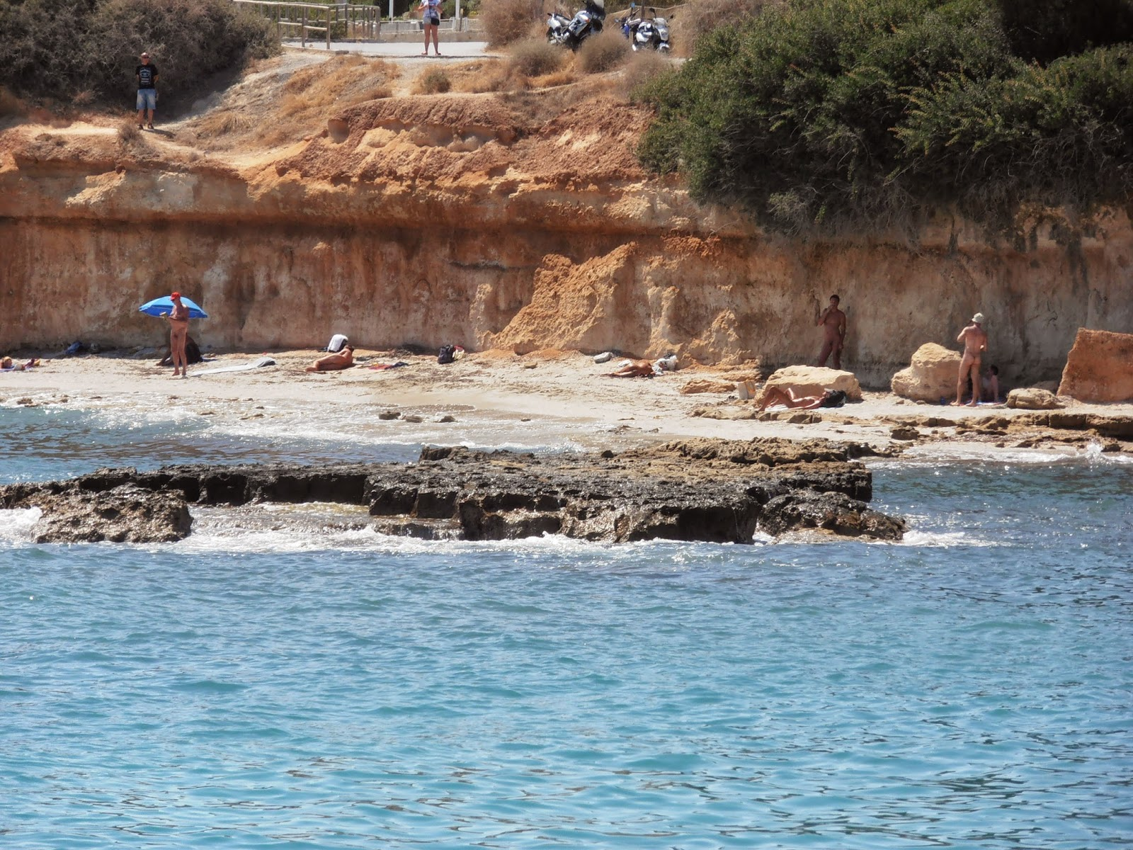 Clothing optional beach near Hersonissos.