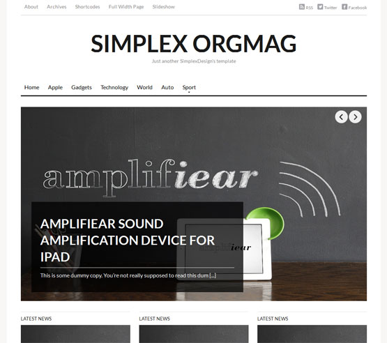 Simplex ORGMAG Blogger Template
