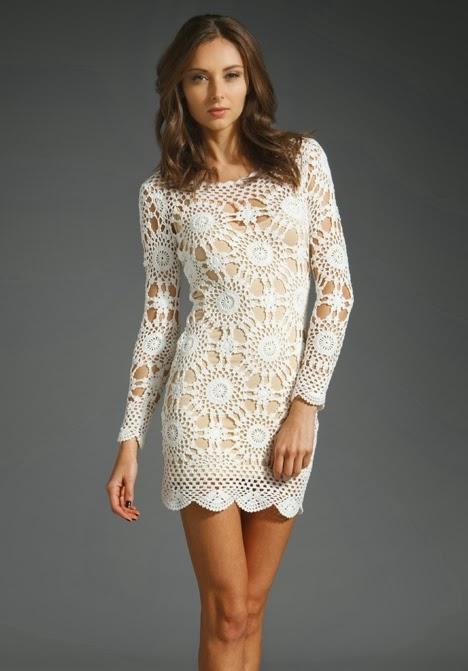 Free Crochet Pattern For Snow White Dress : Blusa / Vestido em croch? com passo a passo e grafico ...