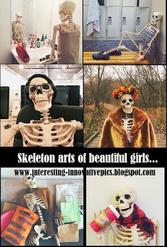Extraordinary skeleton sculptures