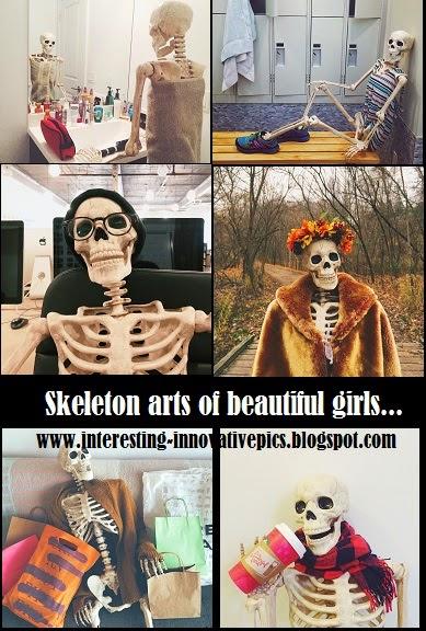Skeleton sculpture arts of girls, Extraordinary skeleton sculptures