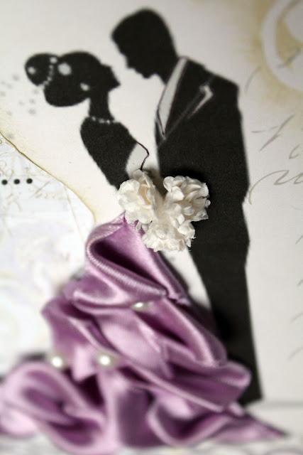 Открытка свадебное платье