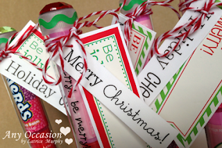 SRM Stickers Blog - Tube Stocking Stuffers by Latrice - #borders #Christmas #labels #Tube #stocking stuffer #twine