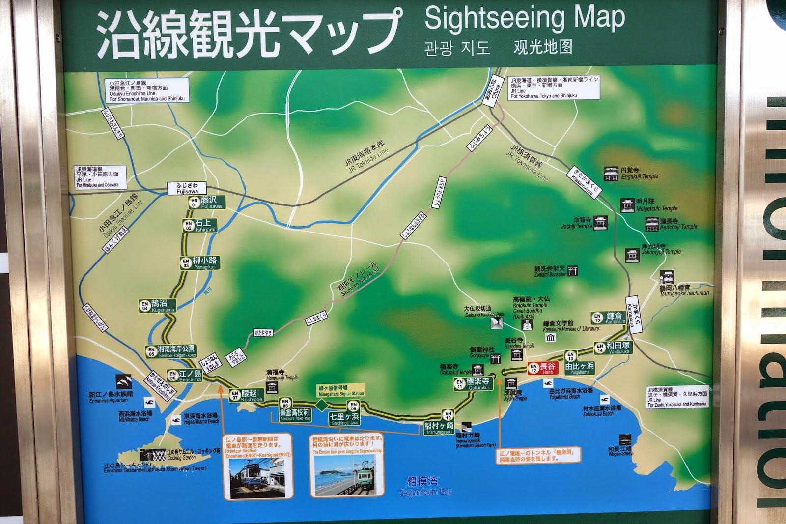 kamakura japan map
