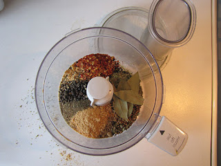 Seasonings in a food processor