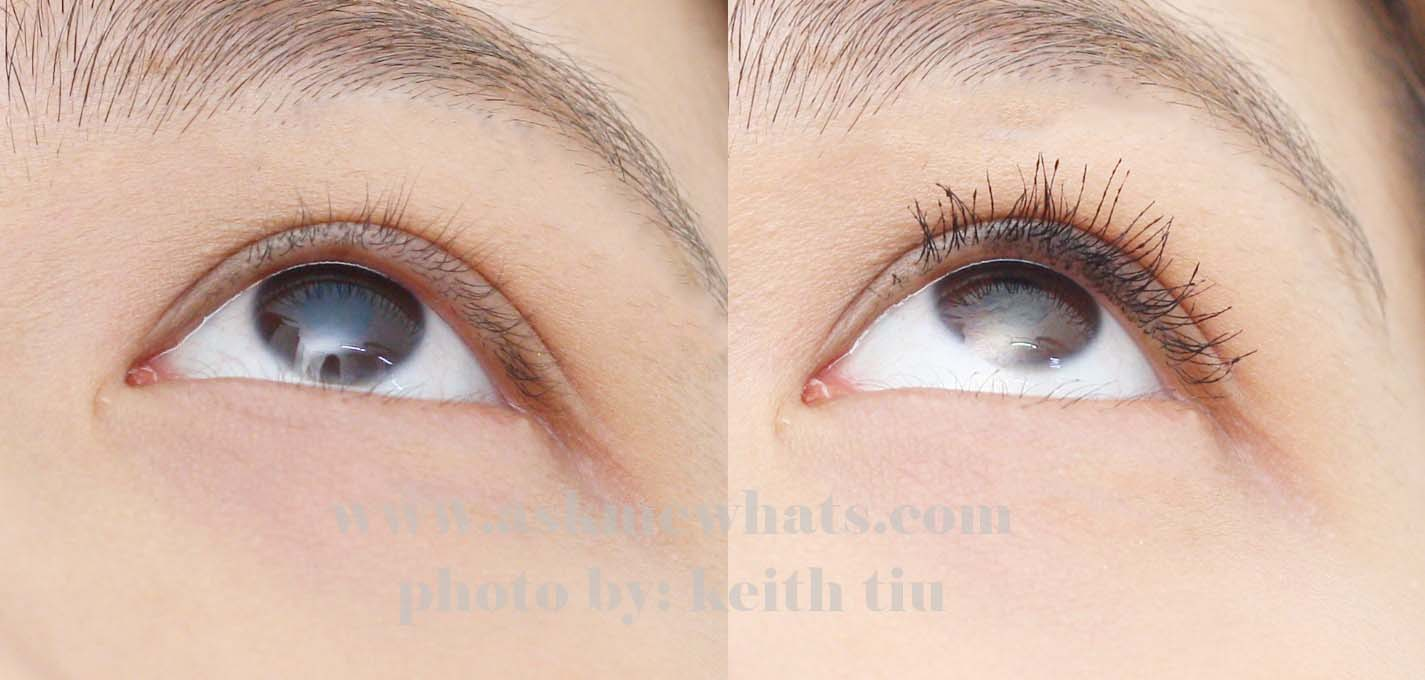 HD Mascara by Browhaus before and after use