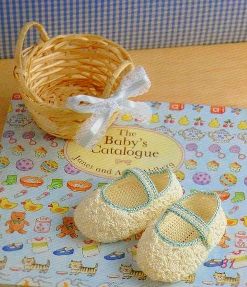 zapatos bebe tejidos al crochet