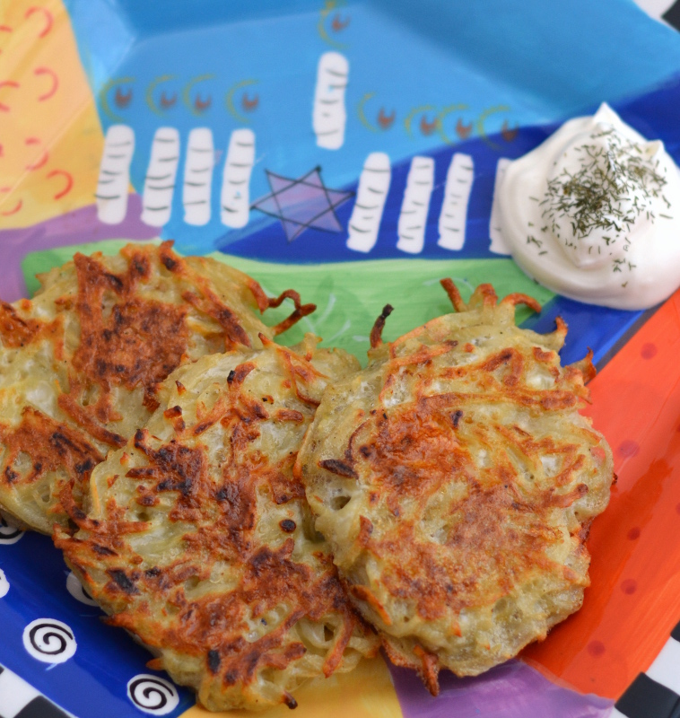 Easy baked latkes recipe