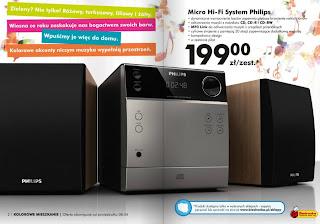 Wieża Philips Micro Hi-Fi System Biedronka ulotka