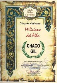 Miliciano del Alba a Chaco Gil