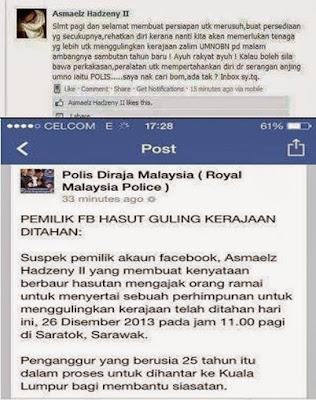 Pemilik Akaun Facebook Asmaelz Hadzeny II DiTahan Polis