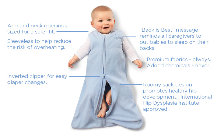 Best Swaddle to Get Baby to Sleep: Halo SleepSack Swaddle When registering, I really didn't have any clue what to look for in a swaddle so I registered for a few different options. We received several thin blanket swaddles, 2 Summer Infant SwaddleMe Original Swaddles, and a fleece Halo SleepSack Swaddle.
