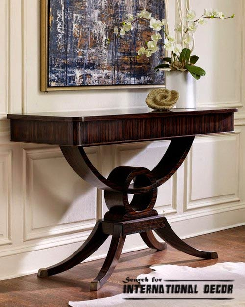 luxury console table for modern interior. Black Bedroom Furniture Sets. Home Design Ideas
