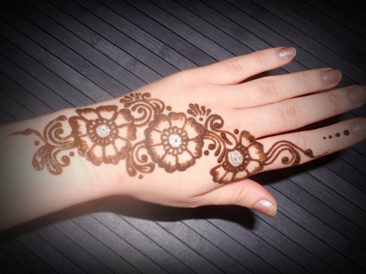 Mehndi For Thin Hands : Mehndi bail designs