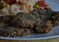 Bife de Grão-de-Bico e Funghi Secchi à Milanesa (vegana)