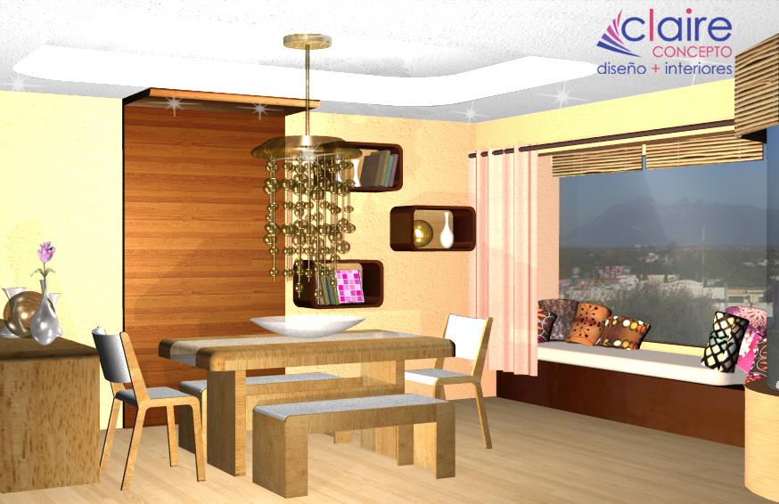 Dise o de comedor contempor neo plafones e iluminaci n for Plafones de madera pared