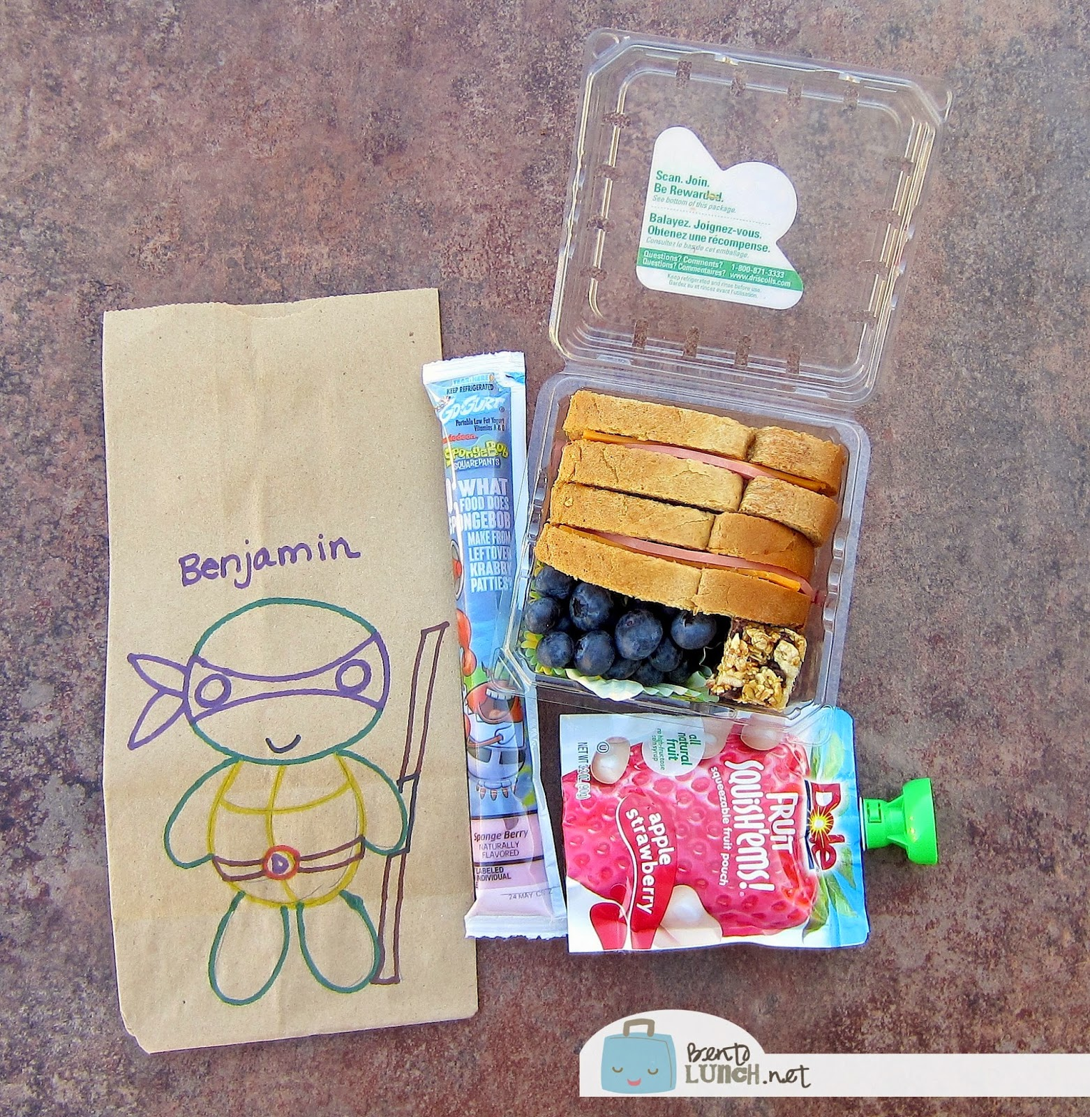 Disposable Lunch And Snacks So We Opted For Our Traditional Berry Containers Decorated Paper Bags In Lieu Of A Bento