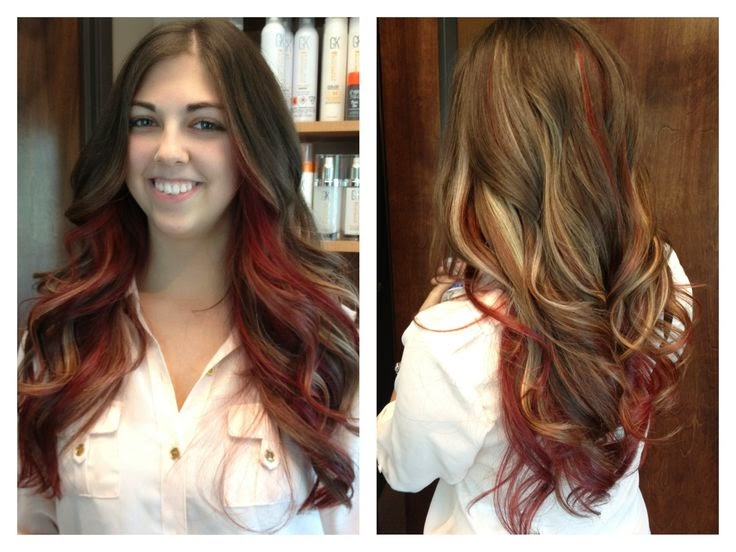 Styles for Brown Hair With Blonde and Red Highlights | Women ...