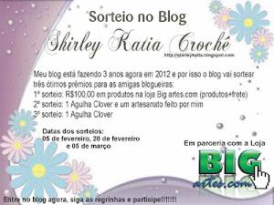 Sorteio no Blog Shirley Katia Crochê Bom dia meninas!!! Estou super feliz em anunciar o primeiro so