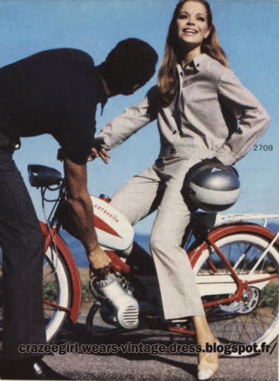 Pant suit - 1967 mopeds, motorbikes, motorcycles, scooters 60s 1960 mod