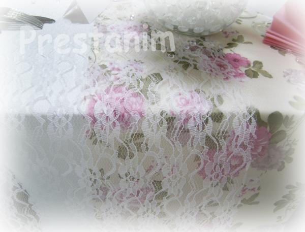 Ma d coration de mariage mariage shabby d corations for Chemin de table beige
