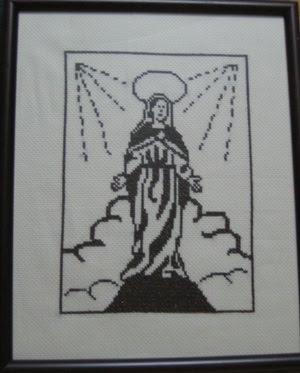 Fatto Da Mary Il Ricamo Preso Di Cornice Misura 24x30 Cm