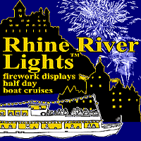 Rhine river lights Fireworks