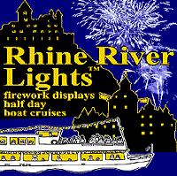 Rhine river lights Fireworks