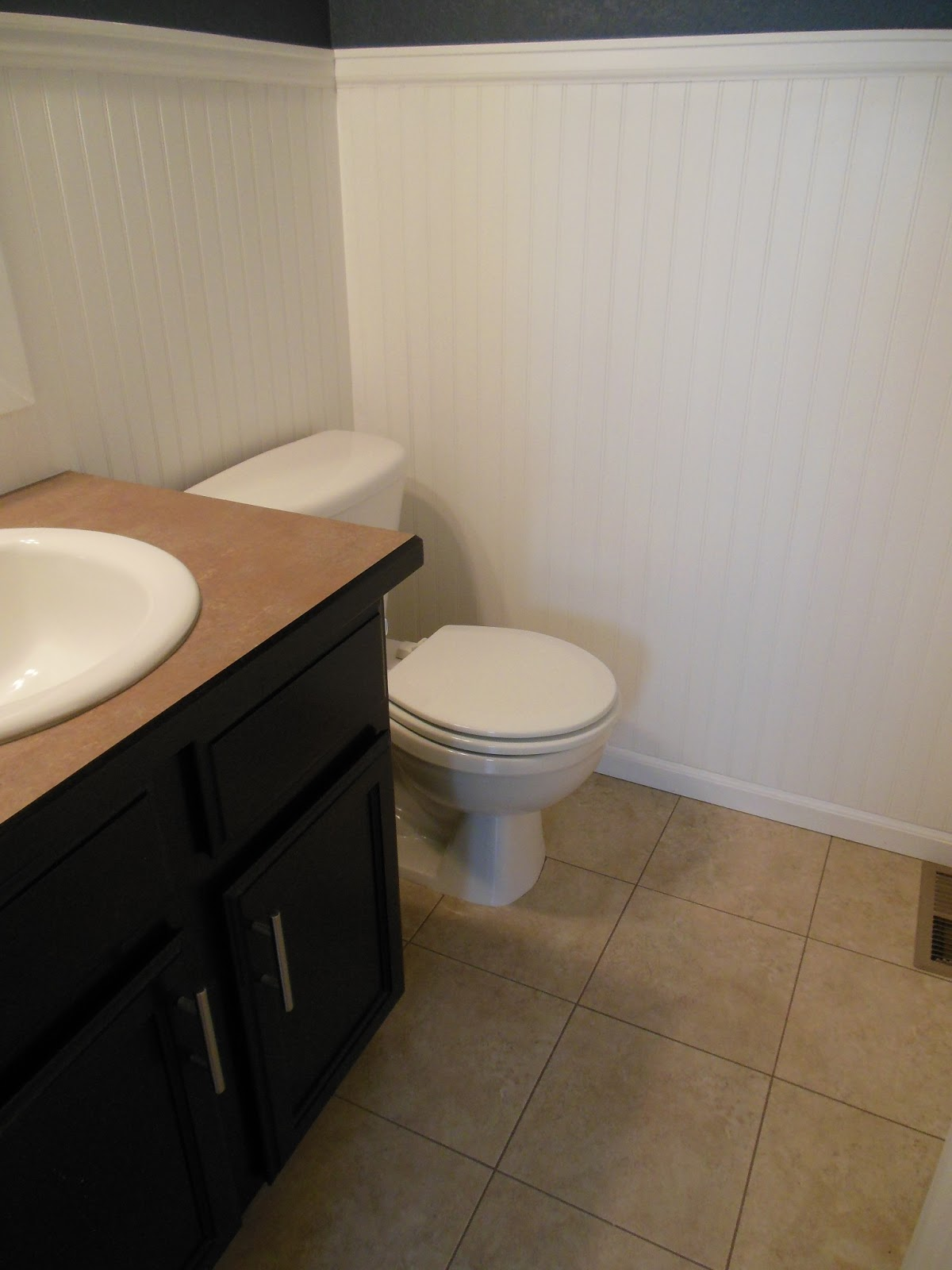Magenta and lime beadboard in the bathroom - How to install beadboard in a bathroom ...