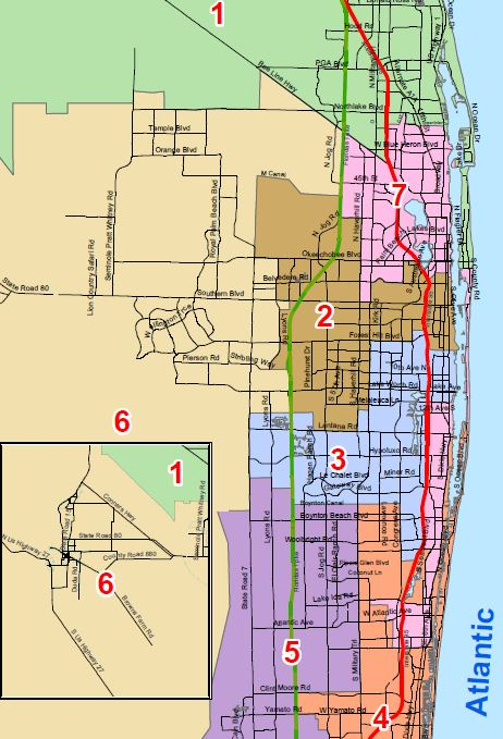 November 6th. PBC Commission, elections, vote for County mayor. Click map for details: