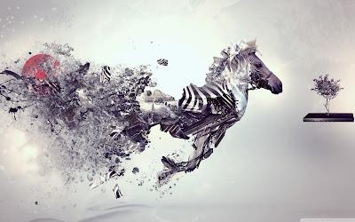 Abstract Zebra Wallpaper
