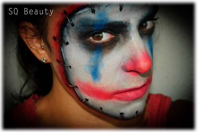 Maquillaje Halloween Payaso diabólico evil clown makeup Silvia Quiros