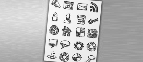 Free Hand-Dran Sketch Icons Sets
