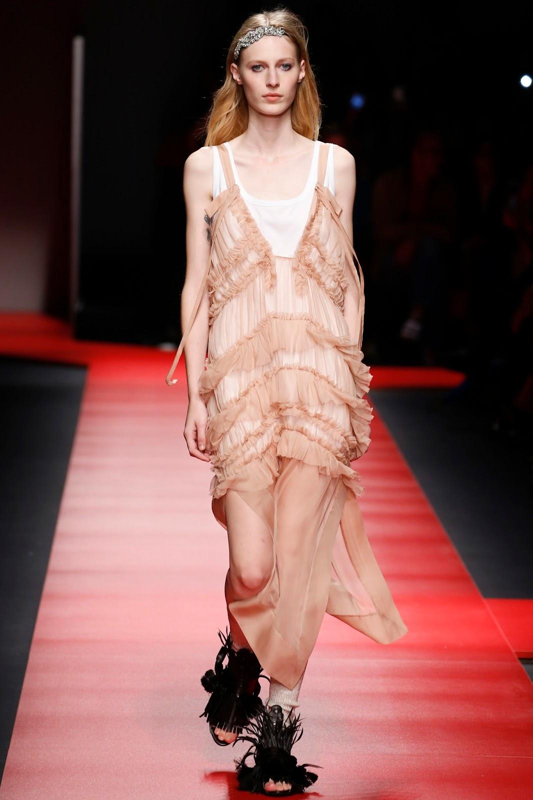 milan fashion week, catwalk, look, model