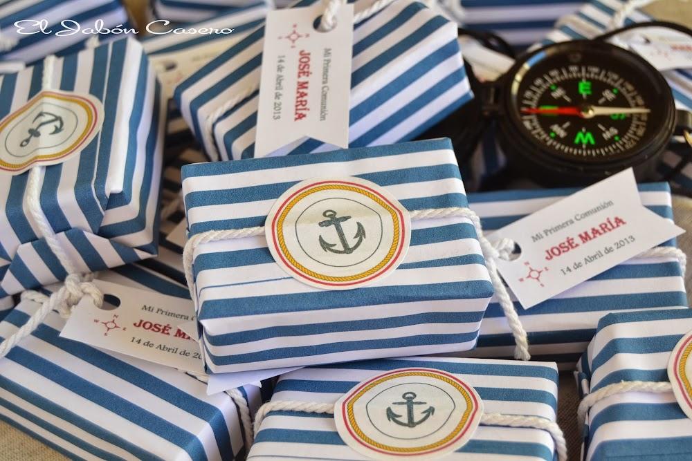 Jabones marineros detalles comuniones