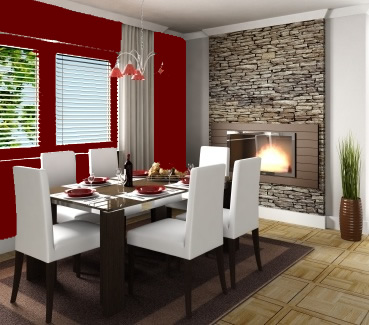 Dining Room on Red Dining Room